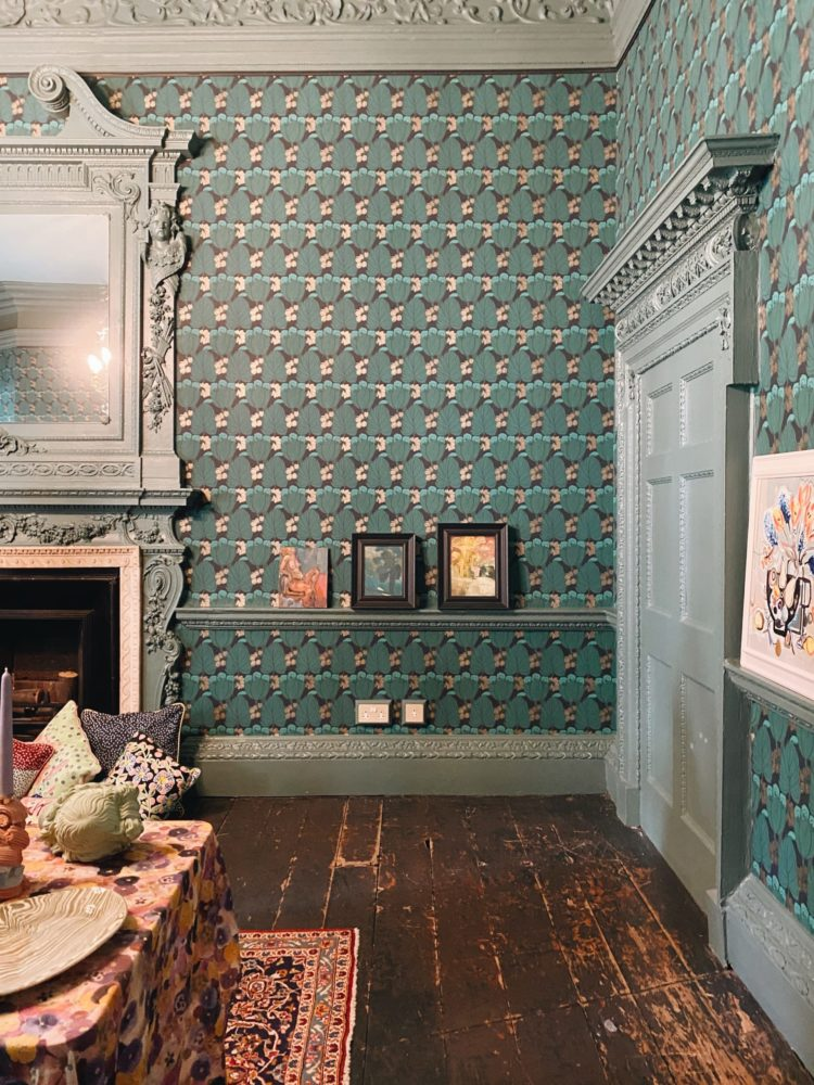 new wallpaper collection from liberty in situ at St Barnabas House
